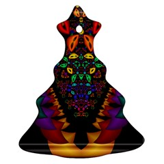 Symmetric Fractal Image In 3d Glass Frame Christmas Tree Ornament (two Sides)