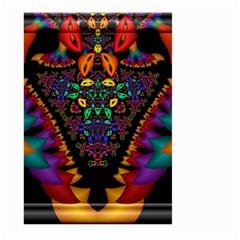 Symmetric Fractal Image In 3d Glass Frame Large Garden Flag (Two Sides)