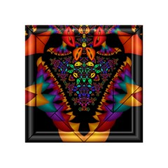 Symmetric Fractal Image In 3d Glass Frame Acrylic Tangram Puzzle (4  x 4 )
