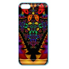 Symmetric Fractal Image In 3d Glass Frame Apple Seamless iPhone 5 Case (Color)