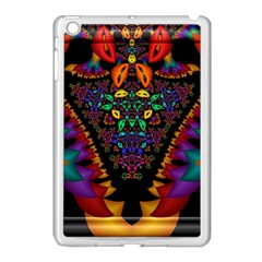 Symmetric Fractal Image In 3d Glass Frame Apple iPad Mini Case (White)