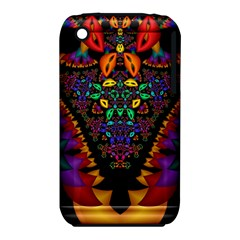 Symmetric Fractal Image In 3d Glass Frame iPhone 3S/3GS