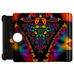 Symmetric Fractal Image In 3d Glass Frame Kindle Fire HD 7