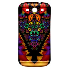 Symmetric Fractal Image In 3d Glass Frame Samsung Galaxy S3 S III Classic Hardshell Back Case