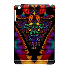 Symmetric Fractal Image In 3d Glass Frame Apple Ipad Mini Hardshell Case (compatible With Smart Cover)