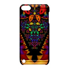 Symmetric Fractal Image In 3d Glass Frame Apple iPod Touch 5 Hardshell Case with Stand