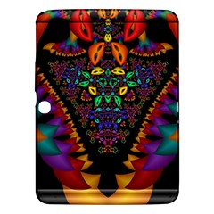 Symmetric Fractal Image In 3d Glass Frame Samsung Galaxy Tab 3 (10 1 ) P5200 Hardshell Case