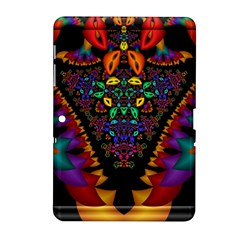 Symmetric Fractal Image In 3d Glass Frame Samsung Galaxy Tab 2 (10.1 ) P5100 Hardshell Case