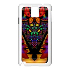 Symmetric Fractal Image In 3d Glass Frame Samsung Galaxy Note 3 N9005 Case (White)