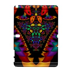 Symmetric Fractal Image In 3d Glass Frame Galaxy Note 1