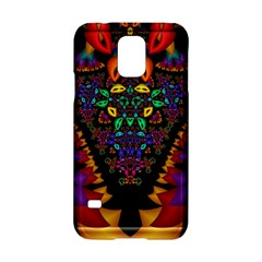 Symmetric Fractal Image In 3d Glass Frame Samsung Galaxy S5 Hardshell Case
