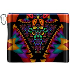 Symmetric Fractal Image In 3d Glass Frame Canvas Cosmetic Bag (XXXL)