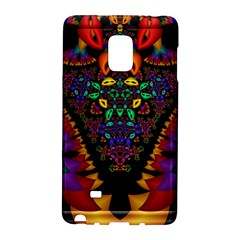Symmetric Fractal Image In 3d Glass Frame Galaxy Note Edge