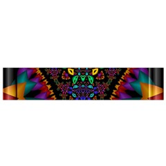 Symmetric Fractal Image In 3d Glass Frame Flano Scarf (Small)