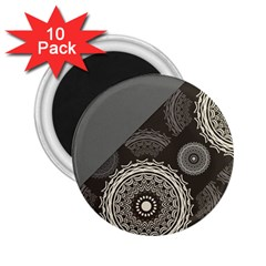 Abstract Mandala Background Pattern 2.25  Magnets (10 pack)