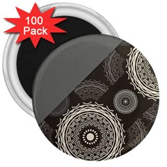 Abstract Mandala Background Pattern 3  Magnets (100 Pack)
