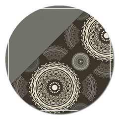 Abstract Mandala Background Pattern Magnet 5  (round)