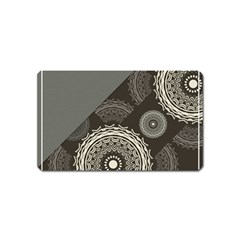 Abstract Mandala Background Pattern Magnet (Name Card)