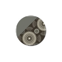 Abstract Mandala Background Pattern Golf Ball Marker