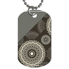 Abstract Mandala Background Pattern Dog Tag (Two Sides)