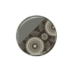 Abstract Mandala Background Pattern Hat Clip Ball Marker (4 pack)