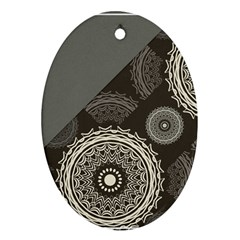 Abstract Mandala Background Pattern Oval Ornament (two Sides)