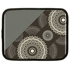 Abstract Mandala Background Pattern Netbook Case (large)