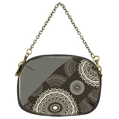 Abstract Mandala Background Pattern Chain Purses (two Sides)