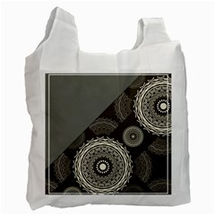 Abstract Mandala Background Pattern Recycle Bag (two Side)