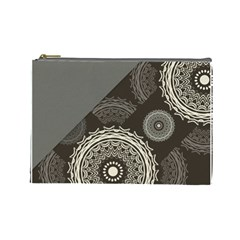 Abstract Mandala Background Pattern Cosmetic Bag (large)