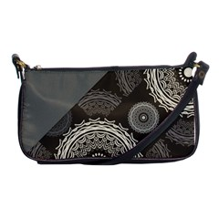 Abstract Mandala Background Pattern Shoulder Clutch Bags