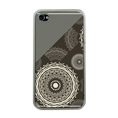 Abstract Mandala Background Pattern Apple iPhone 4 Case (Clear)