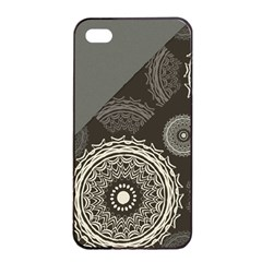 Abstract Mandala Background Pattern Apple iPhone 4/4s Seamless Case (Black)