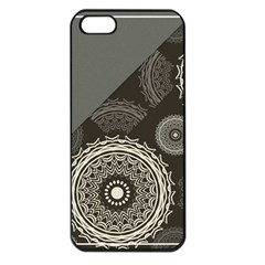 Abstract Mandala Background Pattern Apple iPhone 5 Seamless Case (Black)