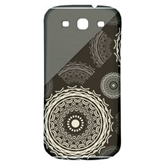 Abstract Mandala Background Pattern Samsung Galaxy S3 S III Classic Hardshell Back Case