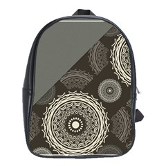Abstract Mandala Background Pattern School Bags (XL)