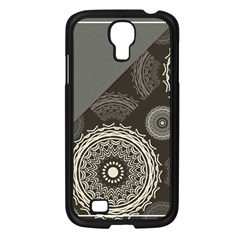 Abstract Mandala Background Pattern Samsung Galaxy S4 I9500/ I9505 Case (Black)