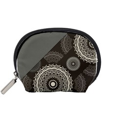 Abstract Mandala Background Pattern Accessory Pouches (Small)