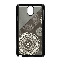 Abstract Mandala Background Pattern Samsung Galaxy Note 3 Neo Hardshell Case (Black)