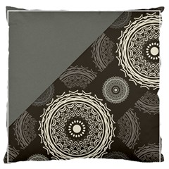 Abstract Mandala Background Pattern Large Flano Cushion Case (One Side)