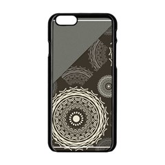 Abstract Mandala Background Pattern Apple Iphone 6/6s Black Enamel Case