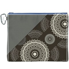 Abstract Mandala Background Pattern Canvas Cosmetic Bag (xxxl)