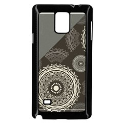 Abstract Mandala Background Pattern Samsung Galaxy Note 4 Case (black)