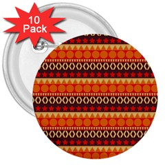 Abstract Lines Seamless Pattern 3  Buttons (10 Pack)