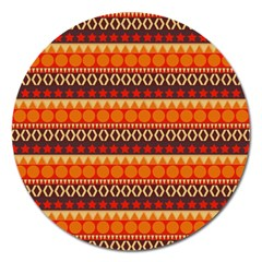 Abstract Lines Seamless Pattern Magnet 5  (round)