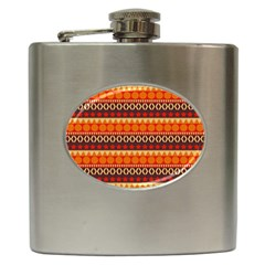 Abstract Lines Seamless Pattern Hip Flask (6 Oz)