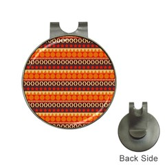 Abstract Lines Seamless Pattern Hat Clips With Golf Markers
