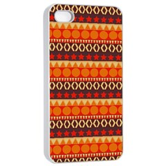Abstract Lines Seamless Pattern Apple iPhone 4/4s Seamless Case (White)
