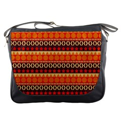 Abstract Lines Seamless Pattern Messenger Bags