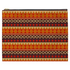 Abstract Lines Seamless Pattern Cosmetic Bag (XXXL)